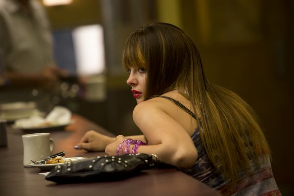 Teri (CHLOE GRACE MORETZ) at the diner in Columbia Pictures' THE EQUALIZER.