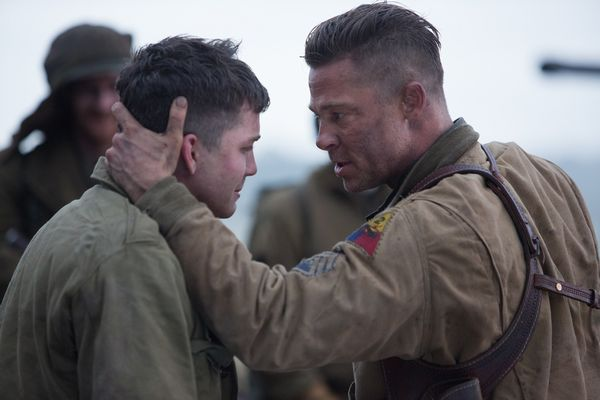 Wardaddy (Brad Pitt) with Norman (Logan Lerman) in Columbia Pictures' FURY.