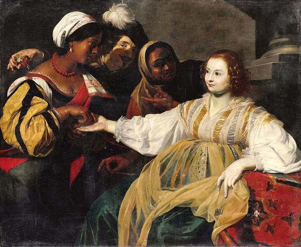 ニコラ・レニエ《女占い師》 1626年頃  © RMN-Grand Palais (musée du Louvre) / Adrien Didierjean / distributed by AMF - DNPartcom
