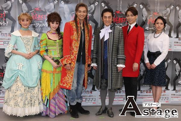 (左から)花總まり、平野綾、井上芳雄、山崎育三郎、ソニン