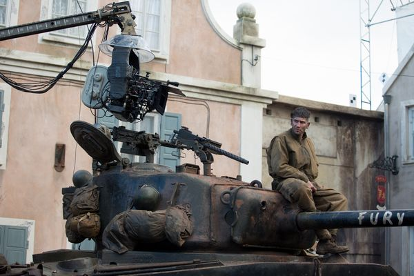 Jon Bernthal on the set of Columbia Pictures' FURY.