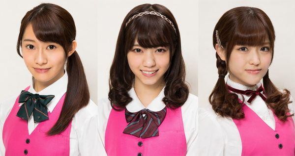 左から桜井玲香、西野七瀬、松村沙友理