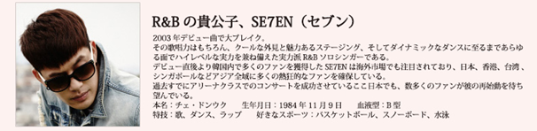 SE7ENプロフィール