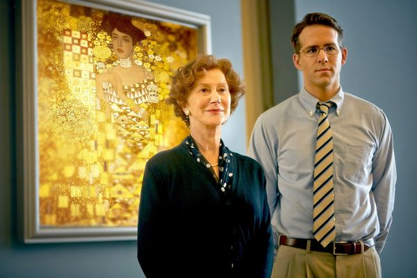 (L-R) HELEN MIRREN and RYAN REYNOLDS star in WOMAN IN GOLD