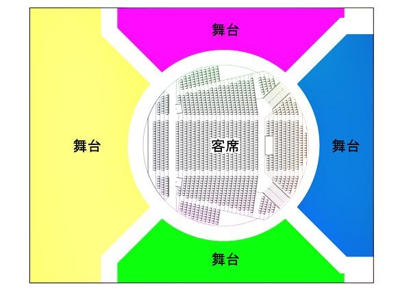 劇場平面イメージ4色