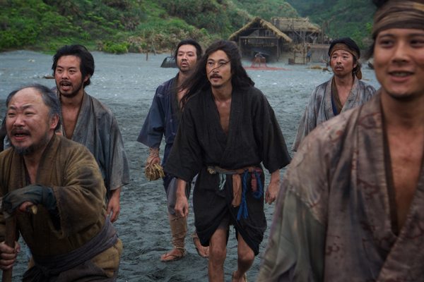 (Center) Yosuke Kubozuka as Kichijiro in the film SILENCE by Paramount Pictures, SharpSword Films, and AI Films