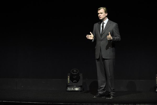 "Director Christopher Nolan speaks at Warner Bros. Pictures ""The Big Picture"" at 2017 CinemaCon on Wednesday, March 29, 2017, in Las Vegas. (Photo by Dan Steinberg/Invision for Warner Bros./AP Images)"
