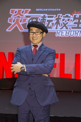 Tokyo, Japan - November 7: Kazuhiko Shimamoto attend the event for the Netflix original series BlazingTransfer Students World Premier held at LUMINE 0 on November 7, 2017 in Tokyo.