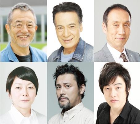 音楽劇「白い病気」上段左より:串田和美、藤木孝、大森博史、下段左より:千葉雅子、横田栄司、西尾友樹