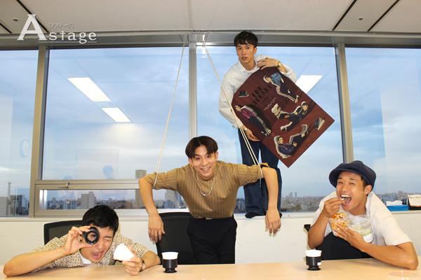 左から Oguri、kazuki、NOPPO、shoji