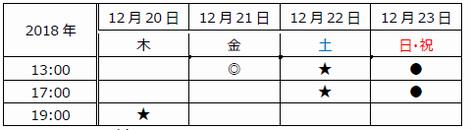 大阪スケジュール新