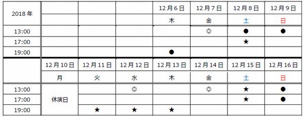 東京スケジュール新