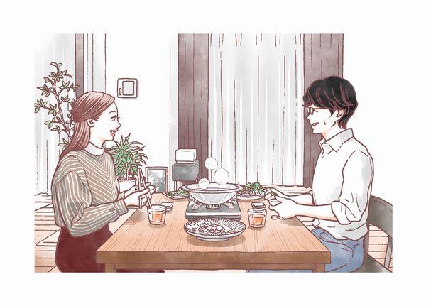 食べる女イラスト【マキヒロチ】