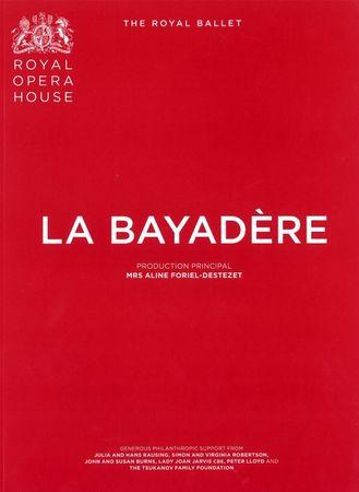 『ラ・バヤデール』パンフレット
