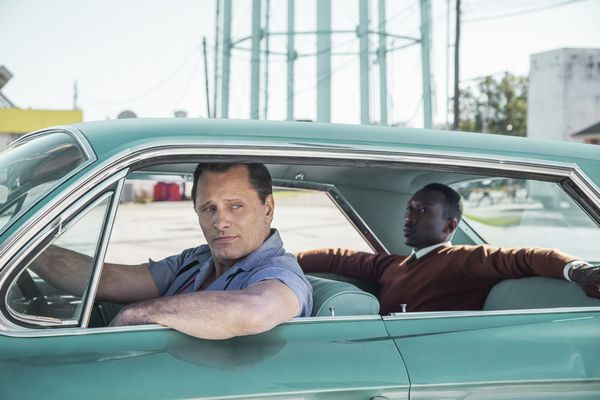 "Viggo Mortensen stars as ""Tony Lip"" and Mahershala Ali as ""Don Shirley"" in GREEN BOOK."