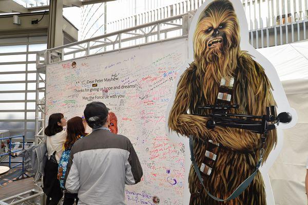 SWの日イベント_チューバッカメッセージボード