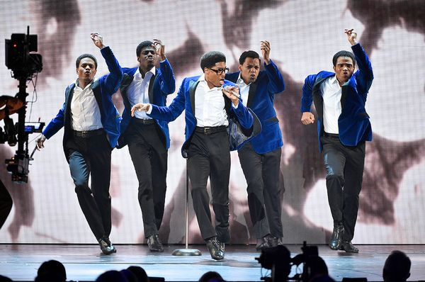 NEW YORK, NEW YORK - JUNE 09: The cast of Ain't Too Proud - The Life and Times of the Temptations performs onstage during the 2019 Tony Awards at Radio City Music Hall on June 9, 2019 in New York City. (Photo by Theo Wargo/Getty Images for Tony Awards Productions)
