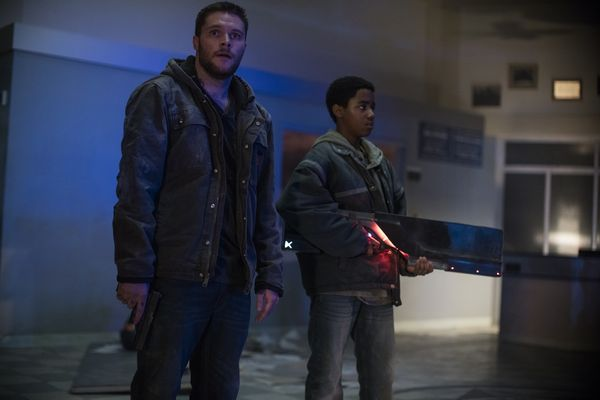 Jimmy (Jack Reynor, left) and Eli (Myles Truitt, right) in KIN. Photo by: Alan Markfield.
