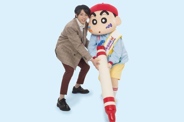 山田裕貴&クレヨンしんちゃん 2 ショット写真