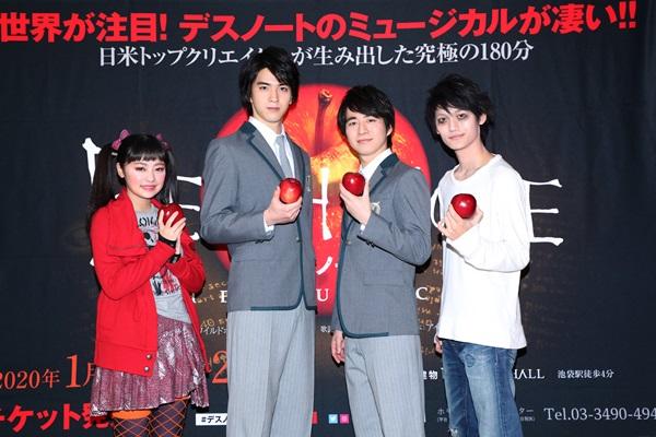 左から)吉柳咲良・甲斐翔真・村井良大・髙橋颯