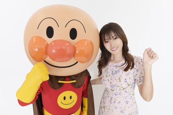 深田さん&アンパンマン2ショット