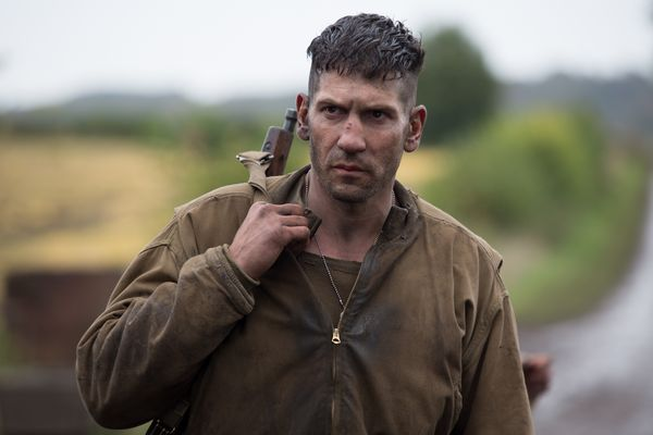 """Grady """"Coon-Ass"""" Travis (Jon Bernthal) in Columbia Pictures' FURY."""