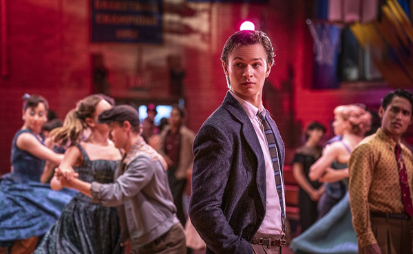 Ansel Elgort as Tony in 20th Century Studios' WEST SIDE STORY.